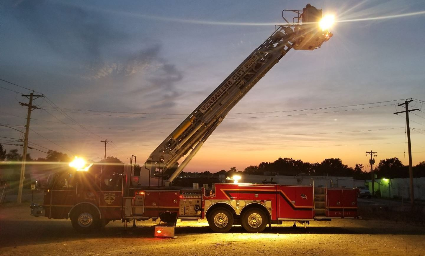 New Fire Truck - Night